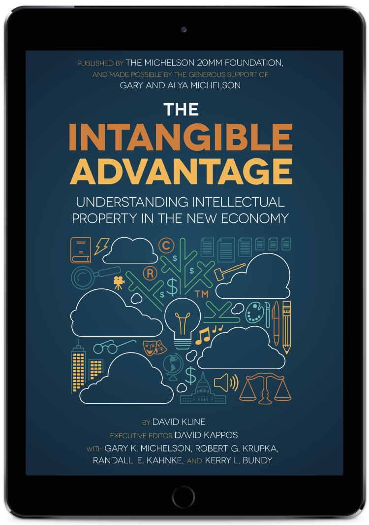 The Intangible Advantage Intellectual Property Book on iPad